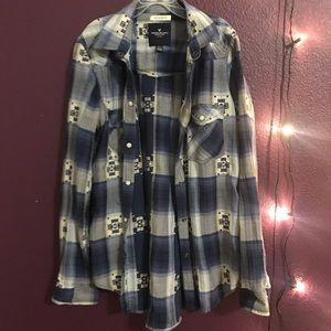 American Eagle flannel plaid button up